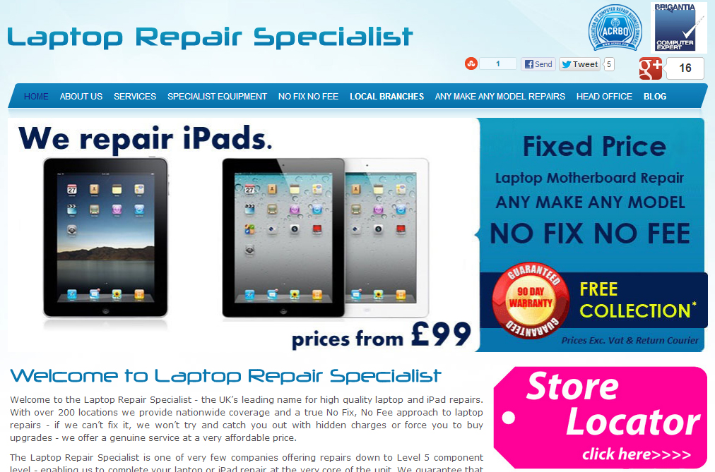 Laptop Repair Specialist